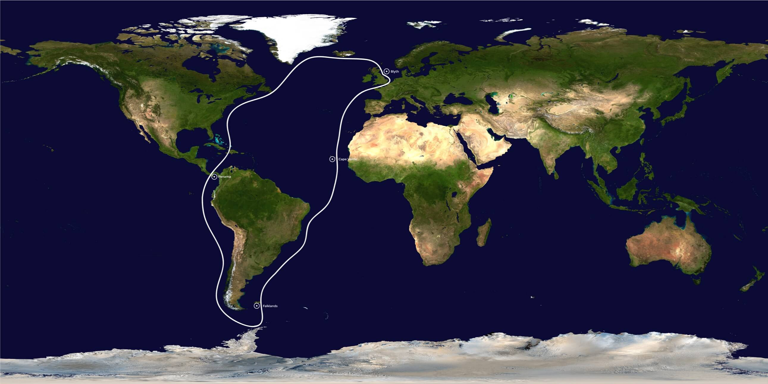 Voyage Route for Williams Expedition